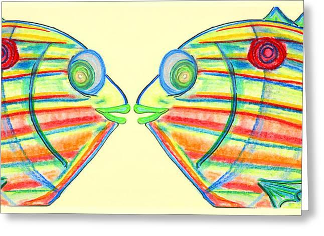 Pin Fish Greeting Card by W Gilroy