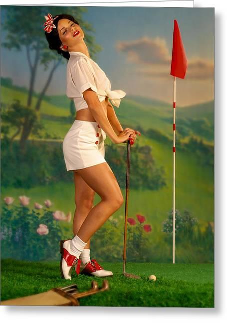 Pin Up Golf Lady Photograph By Glenn Specht