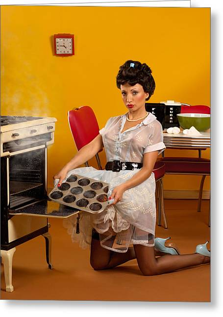 Pin-up Muffins Greeting Card by Glenn Specht