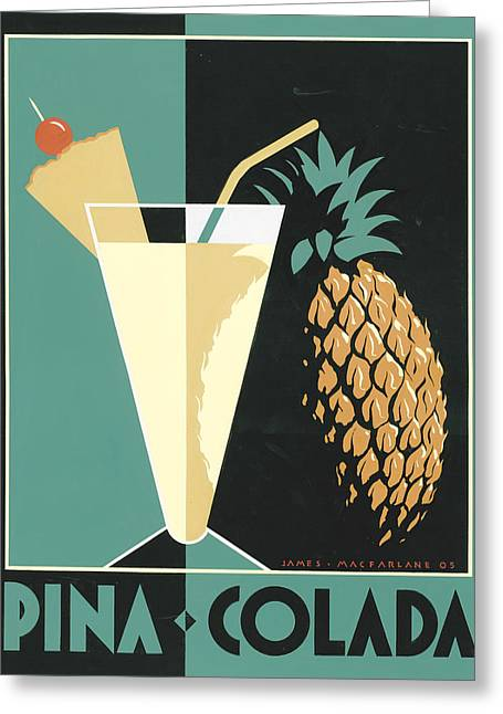Pina Colada Greeting Card by Brian James