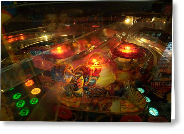 Pinball IIi Greeting Card
