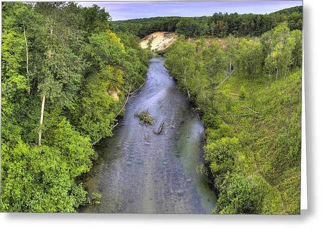 Pine River Greeting Card by Twenty Two North Photography