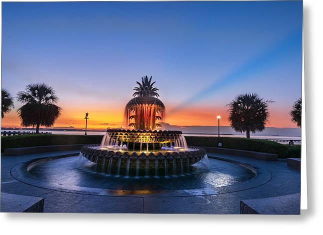 Greeting Card featuring the photograph Pineapple Dawn by RC Pics
