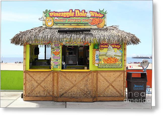 Pineapple Dole Whip At The Santa Cruz Beach Boardwalk California 5d23688 Greeting Card by Wingsdomain Art and Photography