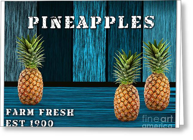 Pineapple Farm Greeting Card by Marvin Blaine