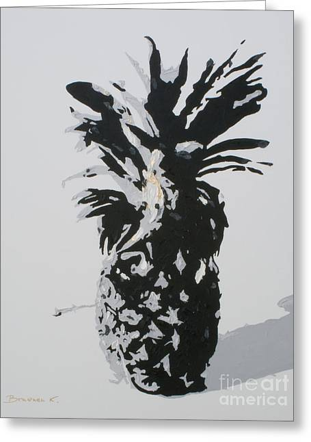 Pineapple Greeting Card by Katharina Filus