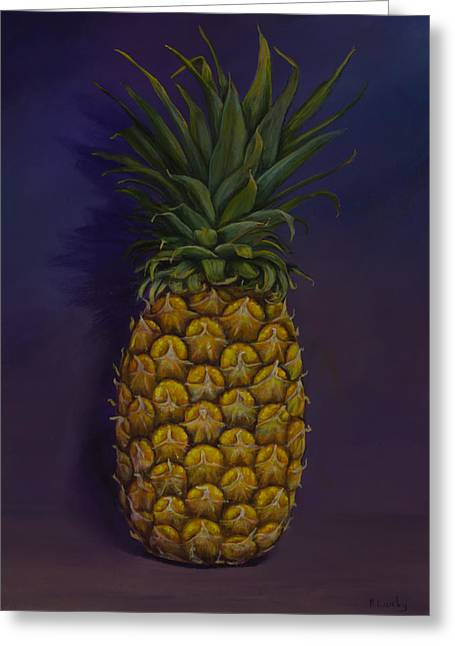Pineapple Merlot Greeting Card
