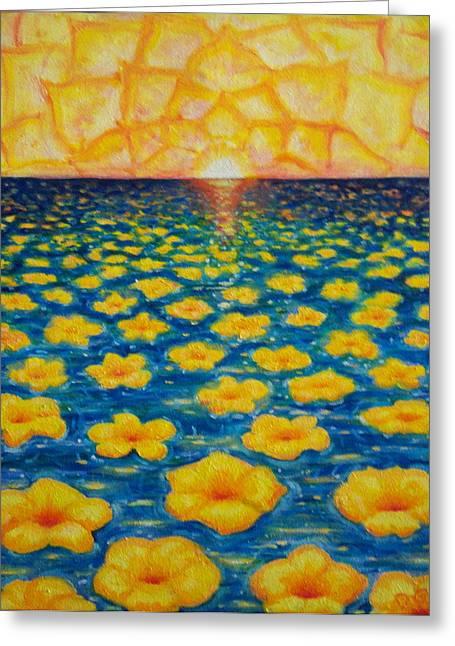 Pineapple Sunset Greeting Card