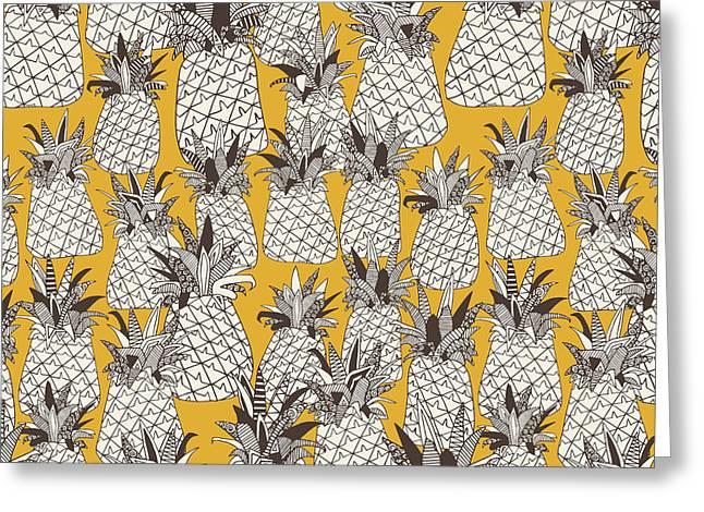 Pineapple Sunshine Yellow Greeting Card