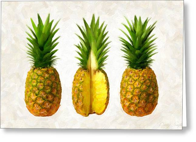 Pineapples Greeting Card by Danny Smythe