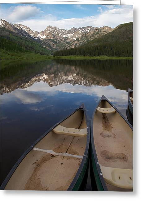Piney Lake Greeting Card by Aaron Spong