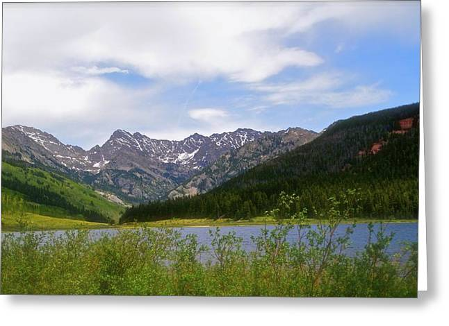 Piney Lake In Upper Vail Greeting Card