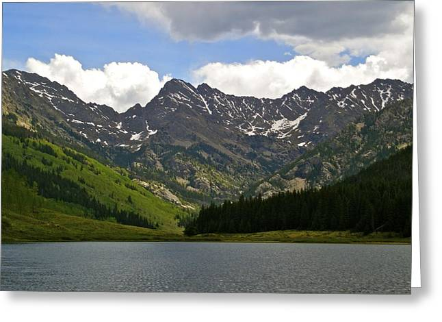 Piney Lake Vail Colorado Greeting Card by Kristina Deane