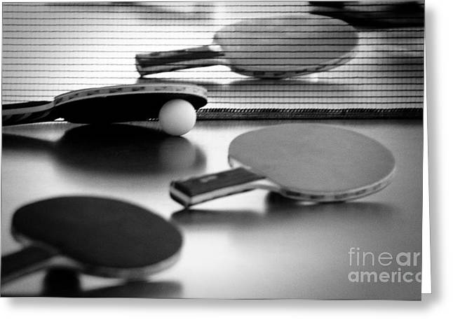 Greeting Card featuring the pyrography Ping-pong by Evgeniy Lankin