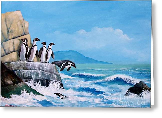 Pinguinos De Humboldt Greeting Card