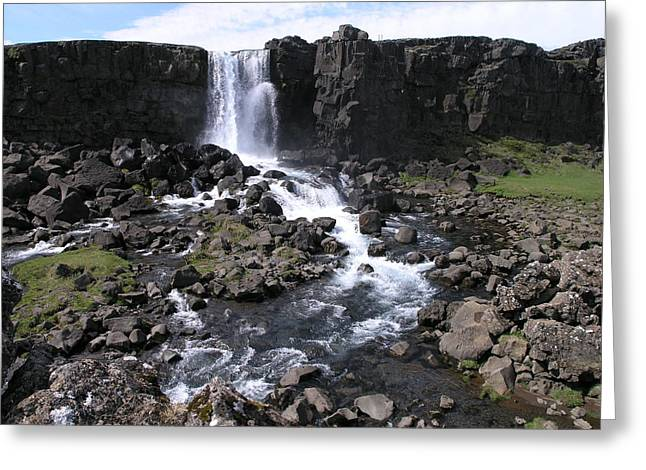 Greeting Card featuring the photograph Pingvellir by Christian Zesewitz
