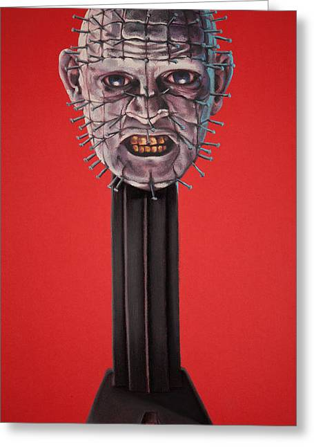 Pinhead Greeting Card by Brent Andrew Doty