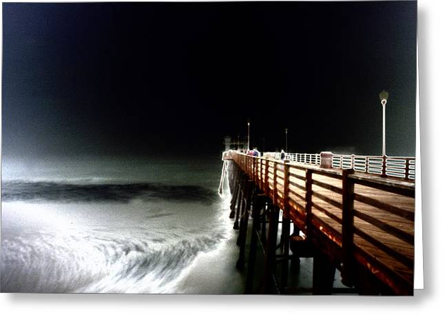 Pinhole Oceanside Pier Greeting Card by Hugh Smith
