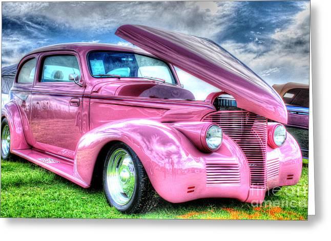 Pink 39 Greeting Card by Linda Arnado