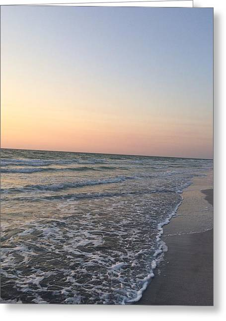 Pink And Blue Shore Greeting Card