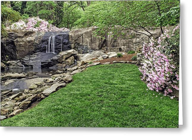 Pink and green rock quarry garden in cleveland park for Landscaping rocks greenville sc