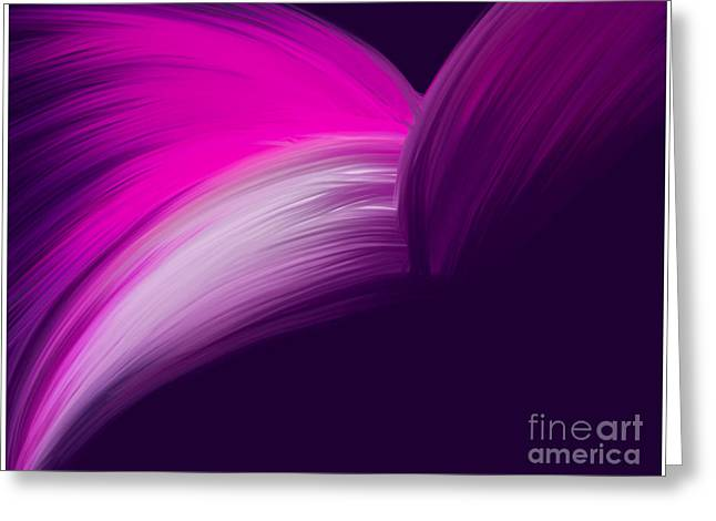 Pink And Purple Curves Greeting Card