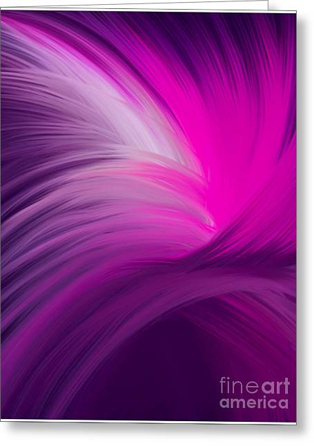 Pink And Purple Swirls Greeting Card