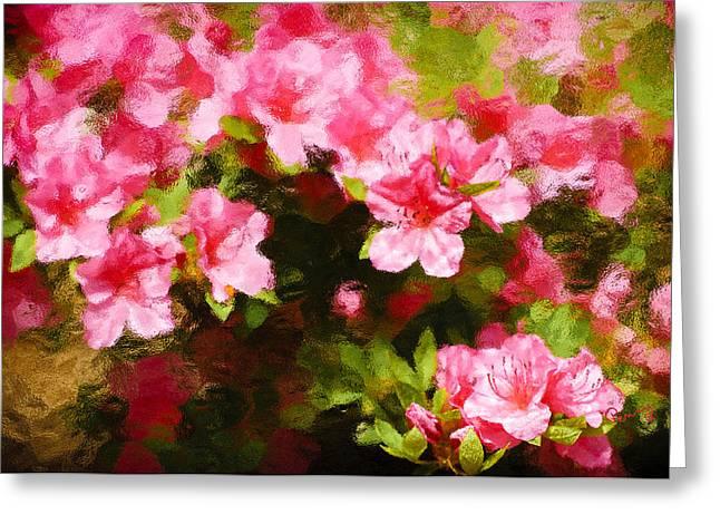 Pink Azealas Greeting Card