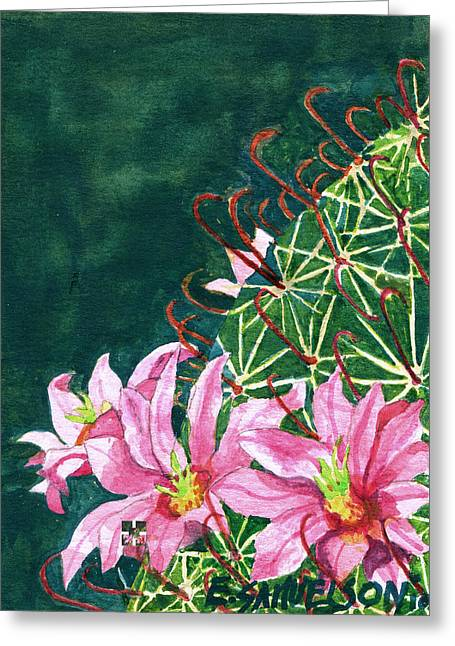 Pink Beauty Greeting Card by Eric Samuelson