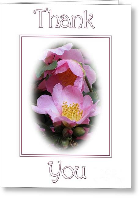 Greeting Card featuring the digital art Pink Beauty Thank You by JH Designs