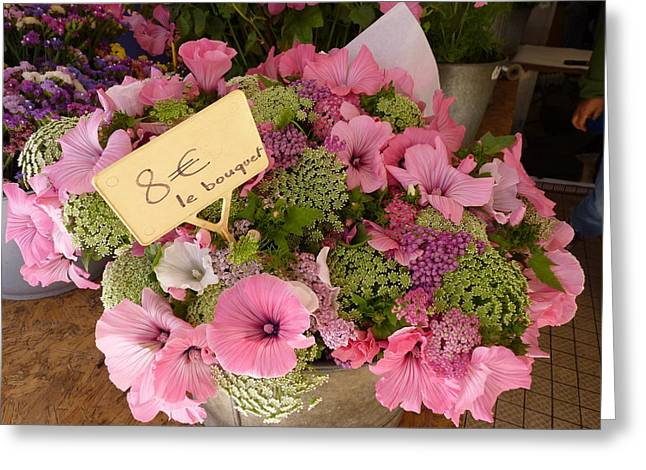 Greeting Card featuring the photograph Pink Bouquet by Carla Parris