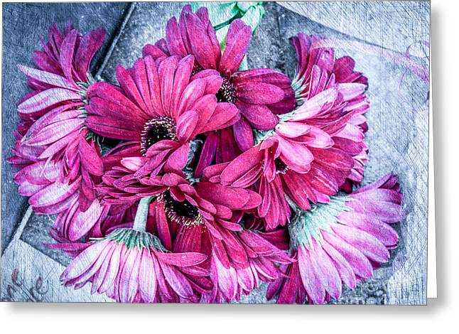 Pink Bouquet Greeting Card by Susan Cole Kelly Impressions