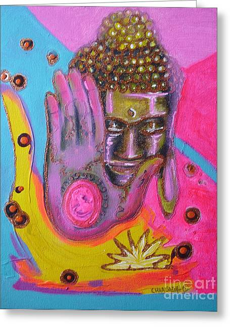 Pink Buddha Greeting Card