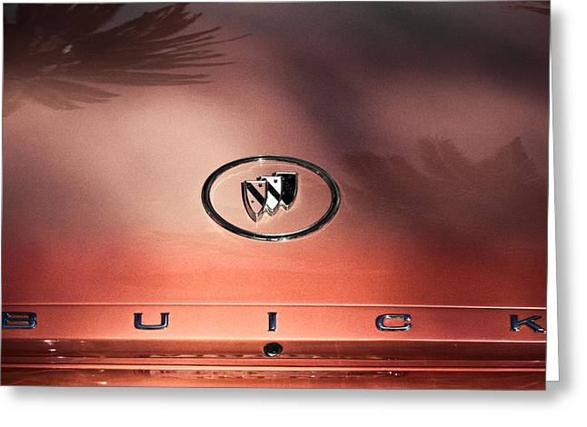 Pink Buick Greeting Card by Merrick Imagery