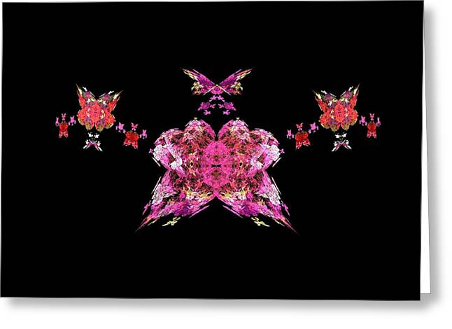 Pink Butterflies Greeting Card by Bruce Nutting