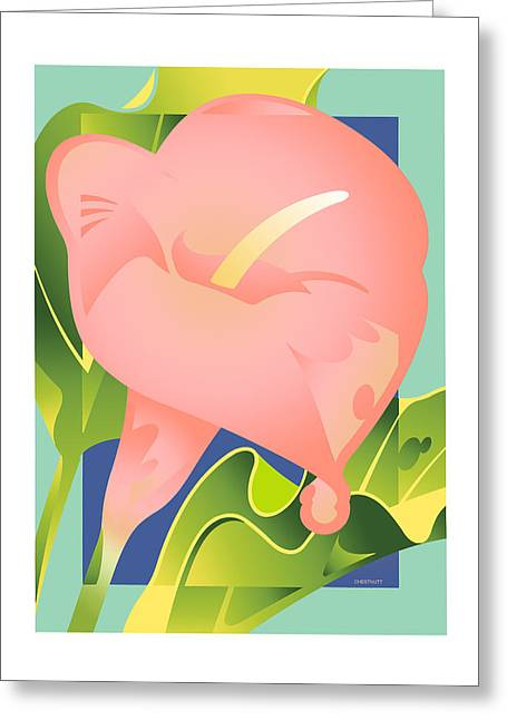 Pink Calla Greeting Card