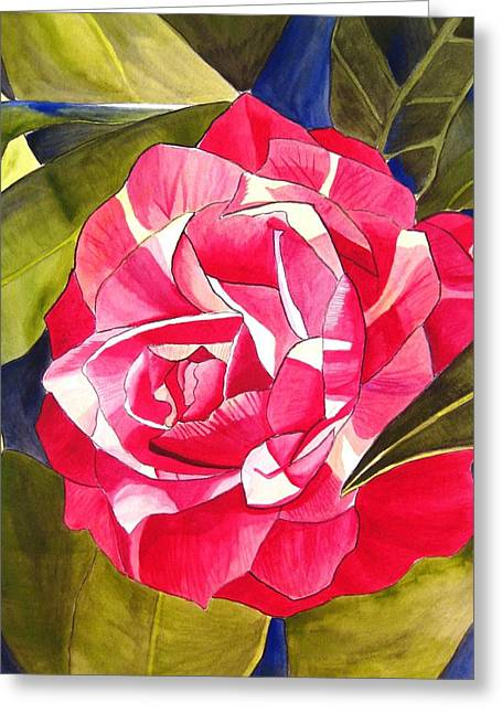 Pink Camellia Greeting Card by Sacha Grossel
