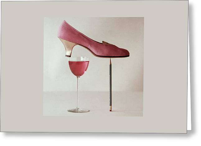 Pink Capezio Pump Greeting Card by Richard Rutledge