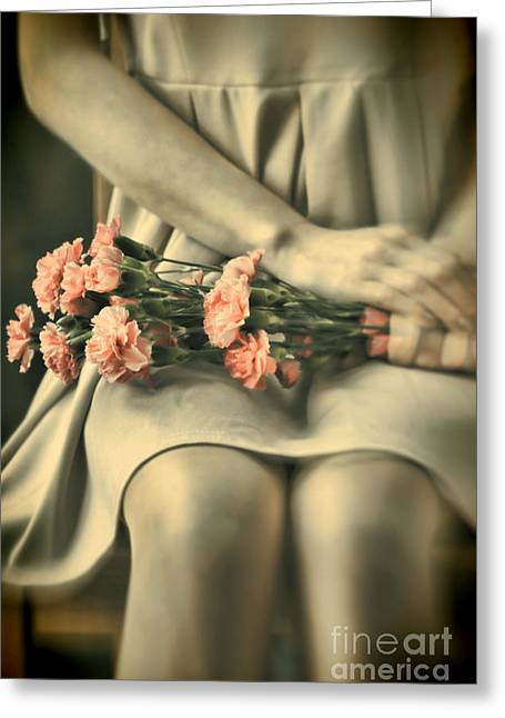 Greeting Card featuring the photograph Pink Carnations by Craig B