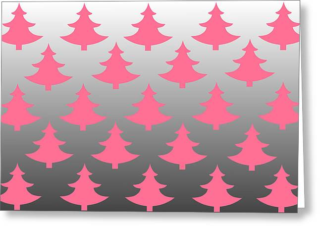 Pink Christmas Greeting Card by Chastity Hoff