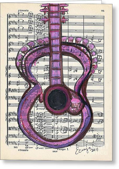 Pink Classical Funk #75 Greeting Card