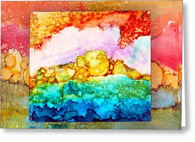 Pink Clouds Greeting Card by Alene Sirott-Cope