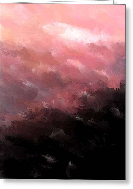 Pink Clouds Greeting Card