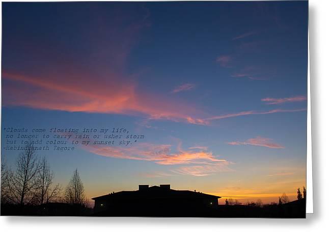 Pink Clouds Greeting Card by Rima Biswas