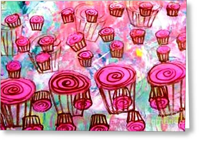 Pink Cupcake Dream Greeting Card