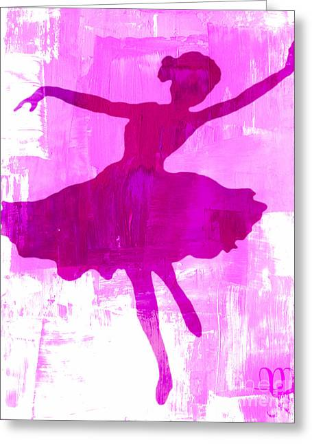 Pink Dancer Greeting Card