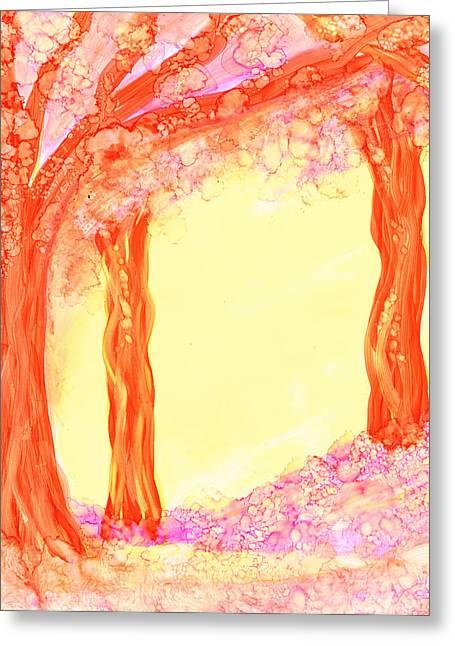 Pink Dawn Greeting Card