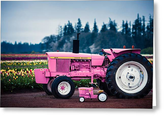Pink Deeres Greeting Card