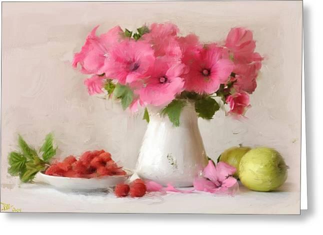Pink  Greeting Card by Dennis Wickerink