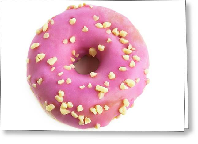 Pink Doughnut Greeting Card
